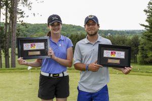 Isabella PortoKalis and Brandon Lacasee win the 2016 CN Future Links Onatrio Championship (Photo: Paul Bennett/Golf Canada)